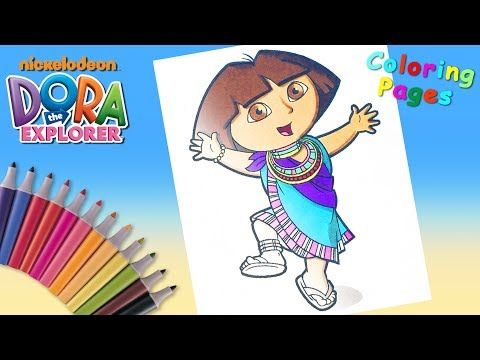 Dora the Explorer Coloring Pages Nickelodeon Nick Jr. Coloring Book #forKids