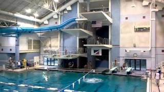 US Olympic Dive Team practicing in Bethesda.