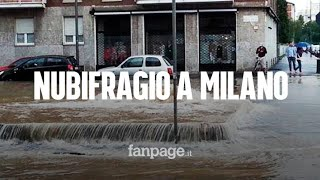 Nubifragio a Milano: strade e case allagate, mezzi di trasporto in tilt