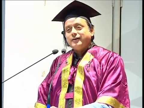 Convocation Speech of Dr Shashi Tharoor in CMC Vellore - Part 1 of 3