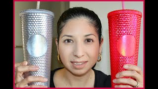 STARBUCKS HOLIDAY CUPS 2019 TUMBLER!!! PINK & SILVER