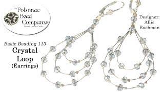 Crystal Loop Earrings (Tutorial)