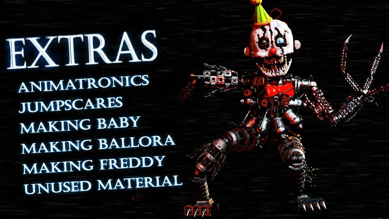 Download EXTRAS MENU AND SECRET ANIMATRONICS! || Babys Nightmare Circus (FREE ROAM Five Nights at Freddys)