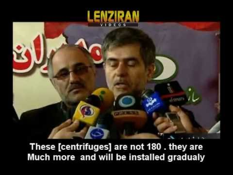 Subtitled in English  -Head of Iranian Atomic Agency  : Centrifuges are not 180 ,  but much more !