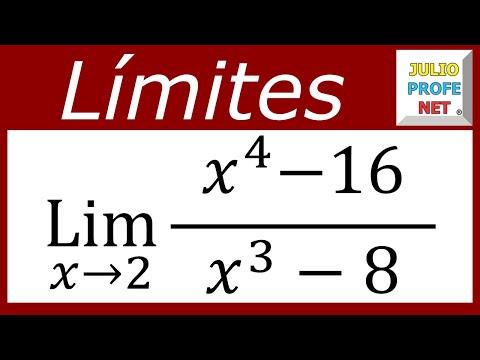 Límites algebraicos - Ejercicio 9