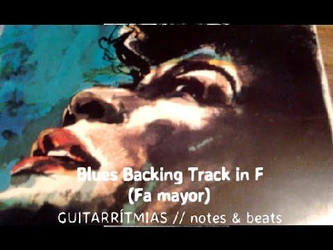 Blues Backing Track in F Fa mayor Base de acompañamiento Blues para improvisar