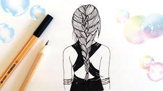 КАК НАРИСОВАТЬ ДЕВОЧКУ TUMBLR ♥ HOW TO DRAW A TUMBLR GIRL STEP BY STEP