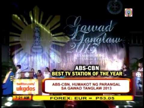 ABS-CBN dominates 11th Gawad Tanglaw