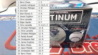 2019 Tristar Autographed Baseball Platinum Edition Box ID 19TRISBBPLAT181