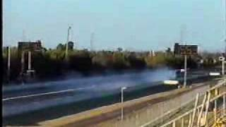 Mazda RX5 destroying a series 4 RX7 hiflowed turbo at Ravenswood Raceway