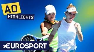 Simona Halep vs Yulia Putintseva Highlights | Australian Open 2020 Round 3 | Eurosport