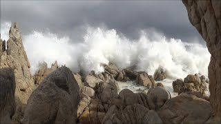 Big ocean waves crashing - stormy sea - Western Cape coast South Africa - HD 1080P