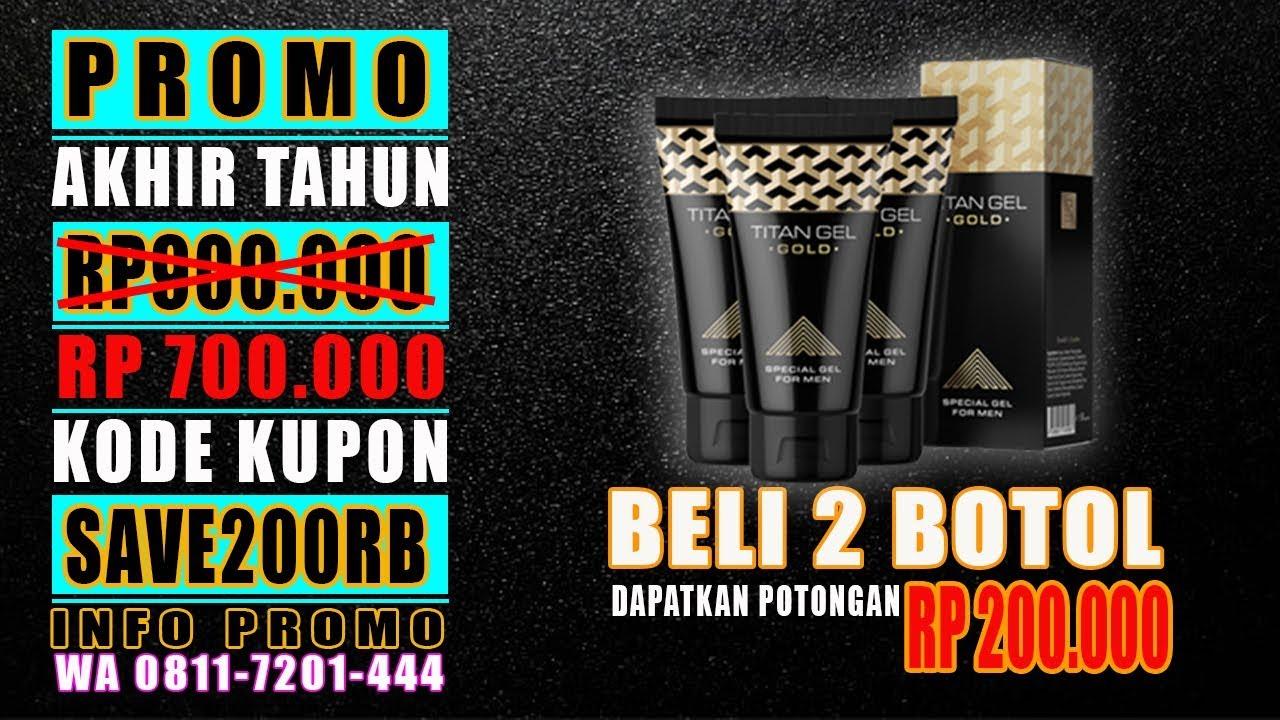 PROMO BELI 2 HEMAT 200 RIBU   TITAN GEL GOLD ORIGINAL WA 08117201444