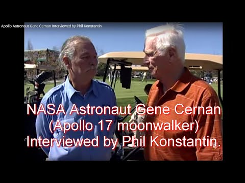 Astronaut Gene Cernan Interviewed by Phil Konstantin