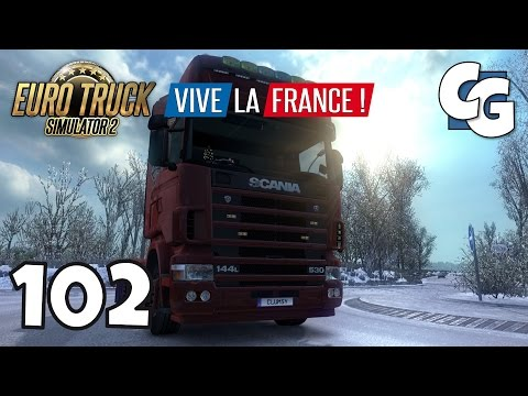 Euro Truck Simulator 2 - Ep. 102 - Frosty Winter Weather Mod - ETS2 Vive La France Gameplay