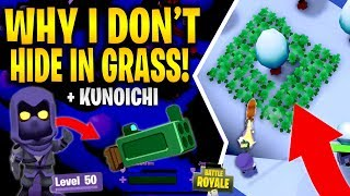 WHY I DON'T HIDE IN GRASS! KUNOICHI LEVEL 50 SNIPER HIGH KILL GAMES (Battlelands Royale Gameplay)
