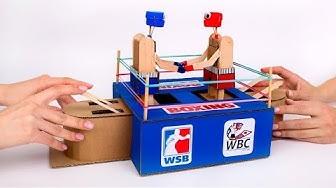 Wie man ein lustiges Box-Spiel aus Pappkarton bastelt 🥊