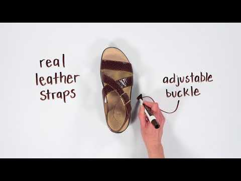 Video for Laguna Cross Strap Sandal this will open in a new window