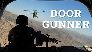 Chinook door gunner in action