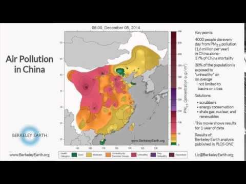Air Pollution in China by Berkeley Earth