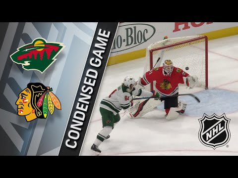 01/10/18 Condensed Game: Wild @ Blackhawks