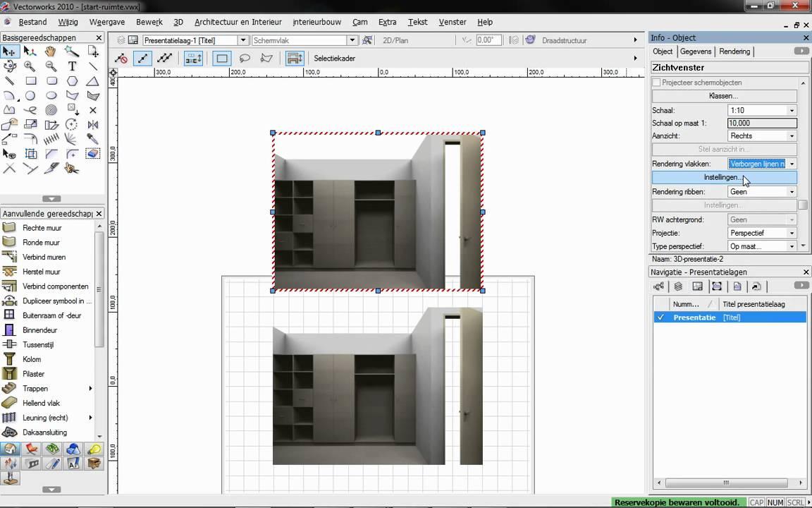 Vectorworks Kastelement Maken En Presenteren Stap 5