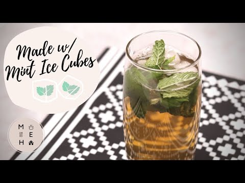 Iced Green Tea with Mint Ice Cubes | No Talking Cooking Video | Make Eat Home