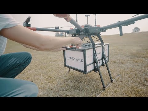 Flytrex On-Demand Drone Delivery at King's Walk, North Dakota