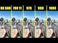 Battlefield 5 1060 Vs 980 Vs 970 Vs 780 TI Vs AMD  RX 580 Frame Rate Comparison