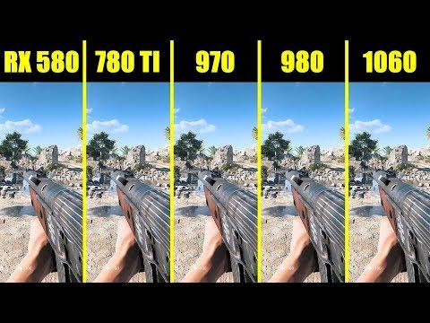 Battlefield 5 1060 Vs 980 Vs 970 Vs 780 TI Vs AMD  RX 580 Frame Rate Comparison