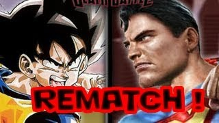 vuclip DEATH BATTLE - Goku VS Superman 2 REMATCH!