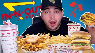 IN-N-OUT MUKBANG HUGE ANIMAL STYLE 4x4 | CRAZY STORYTIME
