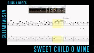 Sweet Child O Mine - Guns N Roses Slash LEAD Electric Guitar Tabs