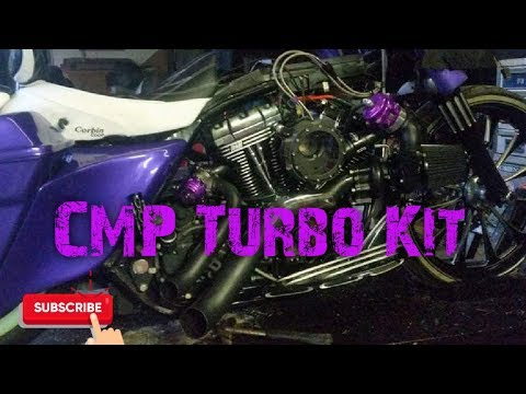 CMP TURBO KIT START UP ON A HARLEY ROADGLIDE