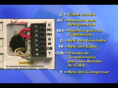 Cableado electrico de un termostato funnycat tv for Clases de termostatos