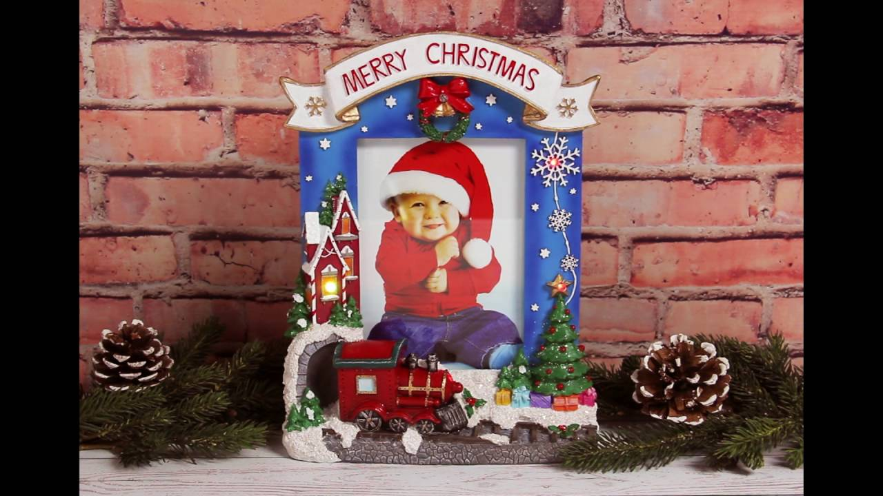 merry christmas light up picture frame