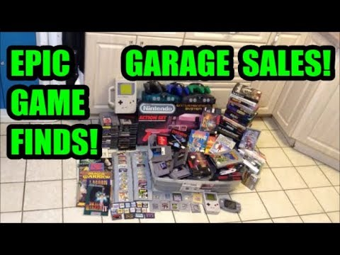 EPIC GARAGE SALE VIDEO GAME FINDS! BOXED NES & SNES GAMES! | Scottsquatch