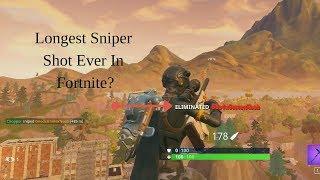 World's Longest Snipe Ever Seen in Fortnite! - 485m