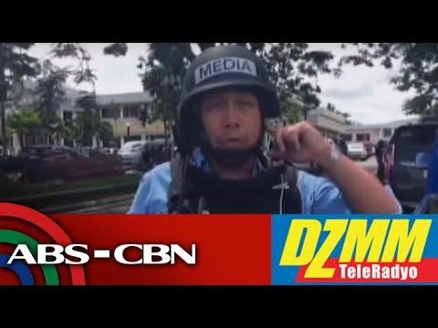DZMM TeleRadyo: Sniper bullet hits ABS CBN van in Marawi