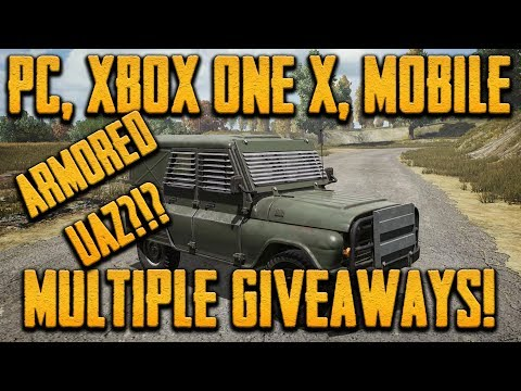 PUTTING ARMOR TO THE ROAD (PUBG XB1X, PC, MOBILE): MULTIPLE GIVEAWAYS!!!