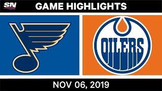 NHL Highlights   Blues vs. Oilers – Nov. 6, 2019