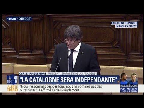 """""""La Catalogne sera un Etat indépendant"""", proclame Carles Puigdemont"""