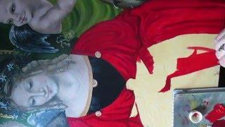 Изображение  драпировки ткани на платье Мадонны.Видео урок.Часть 4.(Интересно рисовать ткань свет-тень,свет-тень вот и ткань.Интересно и не сложно., 2016-02-15T12:27:22.000Z)
