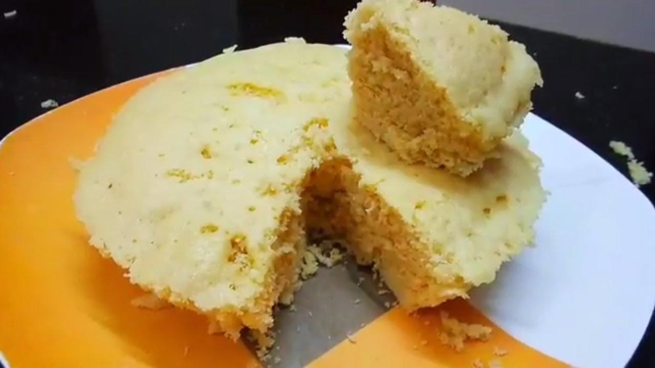 How to make veg sponge cake in microwave