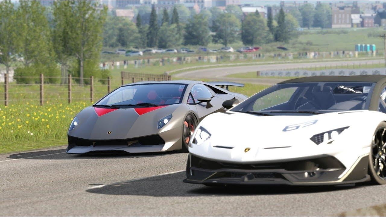 Lamborghini Sesto Elemento Vs Lamborghini Svj 63 At Highlands Youtube