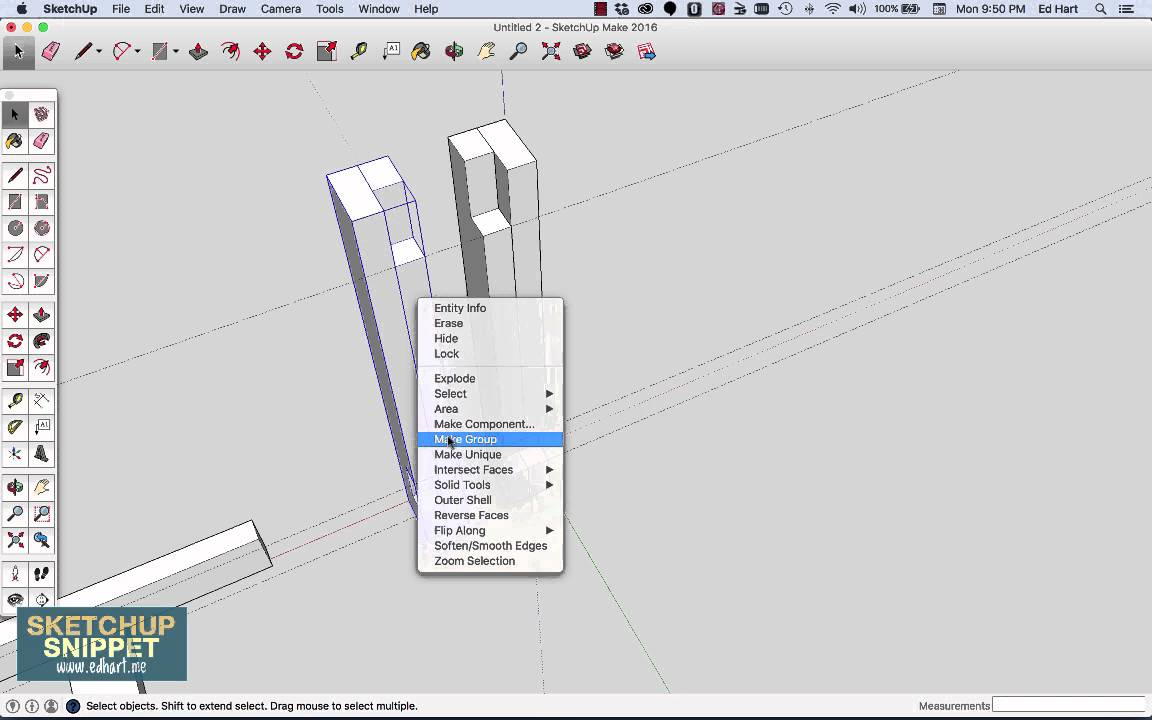 how to make table in sketchup