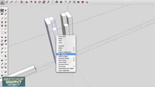 SketchUp Snippet: Drawing a Farmhouse Table: Part 1 of 4