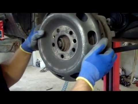 Audi V8 200 S4 UFO BRAKE DISCS replacement of brake pads