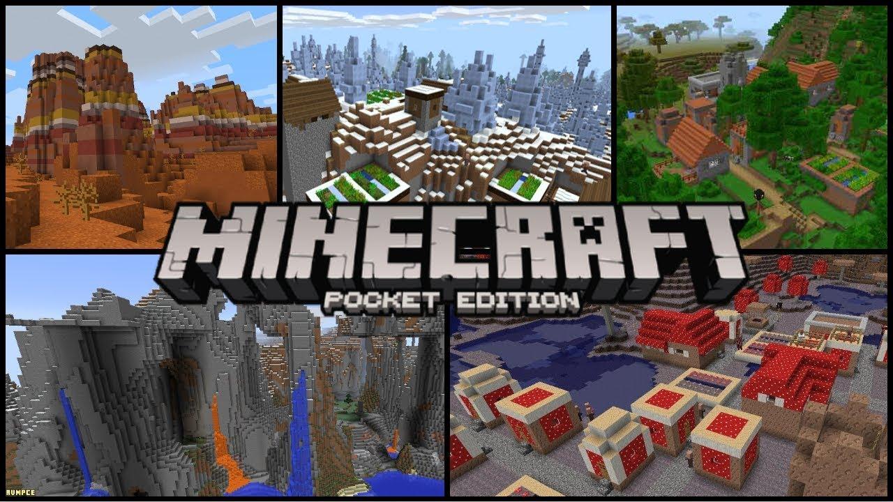 Minecraft PE - Top 8 Best Minecraft Seeds!