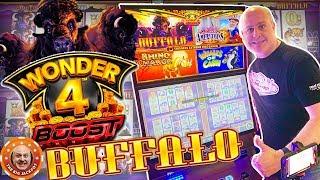 💥ONE OF MY BIGGEST BUFFALO WINS YET! 💥 Wonder 4 Boosted Buffalo Bonus JACKPOT! 🎰